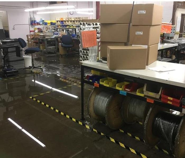Water Damage in Rochester Office Building